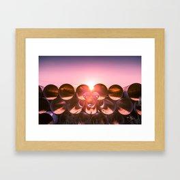 Industrial Sunset - Columbus, OH Framed Art Print