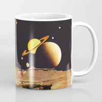 western Mugs featuring Western Space by Mariano Peccinetti