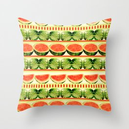 Watermelon Shindig Throw Pillow