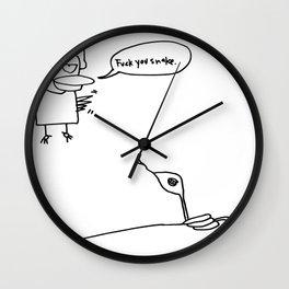 fuck you snake Wall Clock