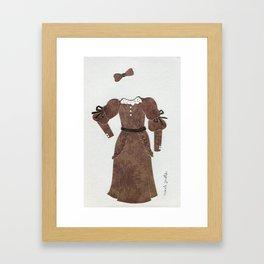 Anne of Green Gables Outfit, 2 Framed Art Print