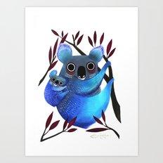 Koala Love Art Print