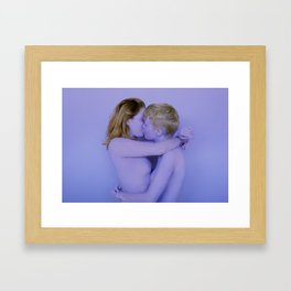 purple kiss Framed Art Print