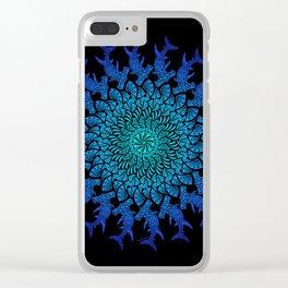 Ombre Tribal Hammerhead Mandala Clear iPhone Case