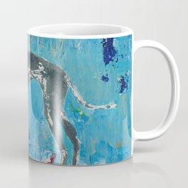 Greyhound Dog Abstract Painting Coffee Mug