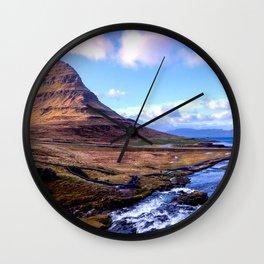 Kirkjufell Mountain, Iceland Wall Clock