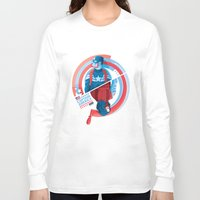 winter soldier Long Sleeve T-shirts featuring The Winter Soldier by Florey