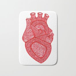 Anatomically Correct Heart Design Bath Mat