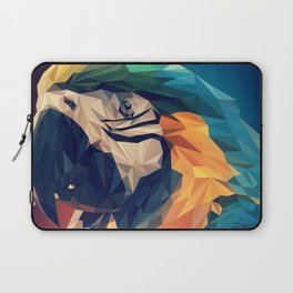 Low Poly Bird Watercolor Painting Laptop Sleeve
