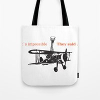 ostrich Tote Bags featuring OSTRICH by VINSPIRO