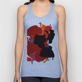 Red Black Forest Colorful Abstraction Digital Art - RegiaArt Unisex Tank Top