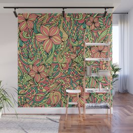 Floral delicate pattern Wall Mural