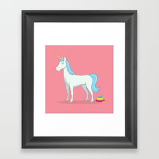 Unicorn Poop Framed Art Print