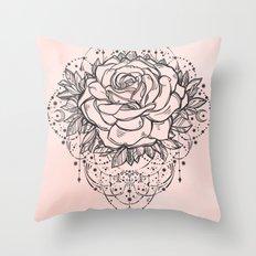 Night Rose Throw Pillow