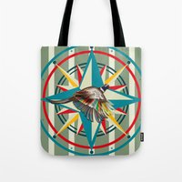 not all those who wander are lost Tote Bags featuring Not all those who wander are lost by milanova