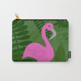 Flamingo Leaves Carry-All Pouch
