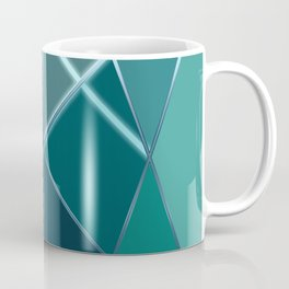 Mosaic tiled glass with black rays Coffee Mug