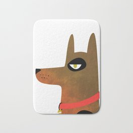 Pinscher Dog Bath Mat