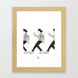 Talkless Man Framed Art Print