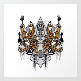 """""""Detroit Nouveau; Coat of Arms"""" Art Print"""