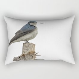 Tree Swallow with Twig Rectangular Pillow