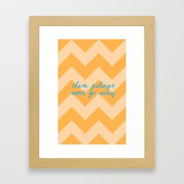 Sideways Framed Art Print