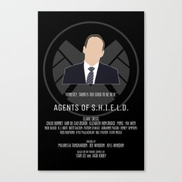 Agents of S.H.I.E.L.D. - Coulson Canvas Print