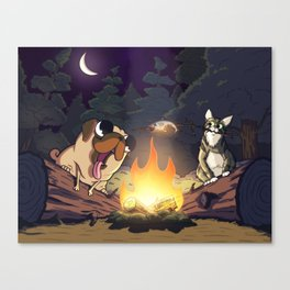 Priscilla and Clementine Go Camping Canvas Print