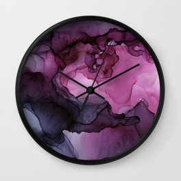 Abstract Ink Painting Ethereal Flowing Watercolor Nebula Wall Clock