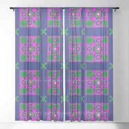 Disco Preppy Tiles Sheer Curtain