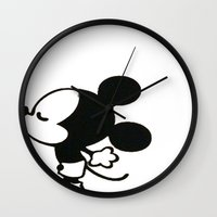 mickey Wall Clocks featuring mickey by ABTD