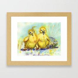 Kleine Enten, small duck Framed Art Print