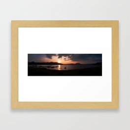 Panoramic of Valle de Bravo's lake. Framed Art Print