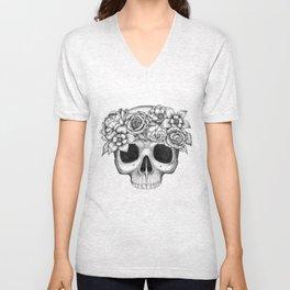 Flowerskull Unisex V-Neck