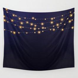 Modern string lights Wall Tapestry
