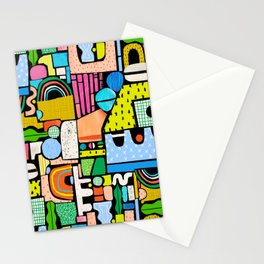 Color Block Collage Stationery Cards
