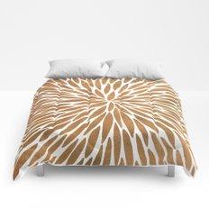 Rose Gold Burst Comforters