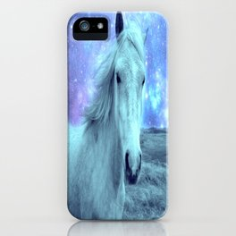 Celestial Dreams Horse Periwinkle Lavender Aqua iPhone Case