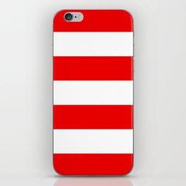 Stripe Red White iPhone Skin