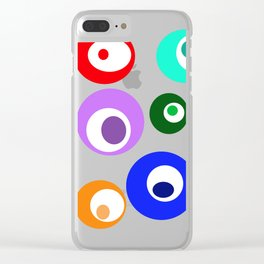 Cirlces within Circles Clear iPhone Case
