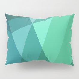 Fig. 046 Mint, Sea Green, Blue & Teal Geometric Pillow Sham