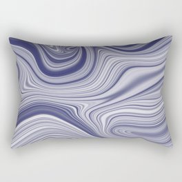 EDDY shades of purple & white in abstract agate pattern Rectangular Pillow