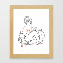 Another night in Framed Art Print