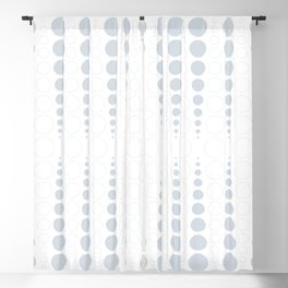 Up and down polka dot pattern in white and a pale icy gray Blackout Curtain