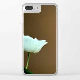 White Anemone Clear iPhone Case