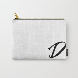 Letter D Ink Monogram Carry-All Pouch