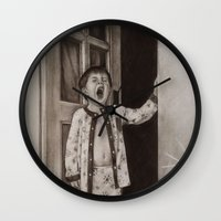 good morning Wall Clocks featuring Good morning! by Amy Fan