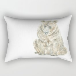 Sitting Alaskan Brown Bear Rectangular Pillow