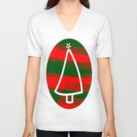 discount V-neck T-shirts featuring In Christmas mood by Roxana Jordan