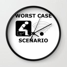 WLAN toilet offline humor funny gift Wall Clock